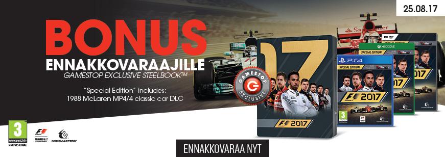Pre-Order F1 2017