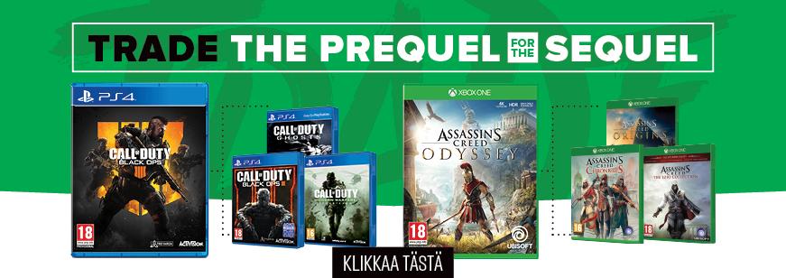 Trade the Prequel for the Sequel, Trade Offer, Prequel Trade Offer, Sequel Trade Offer, GameStop Trade Offer, GameStop Trade Offers