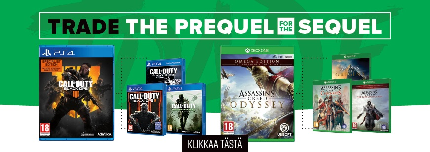 Trade the Prequel for the Sequel, Trade Offer, Prequel Trade Offer, Sequel Trade Offer, GameStop Trade Offer, GameStop Trade Offers