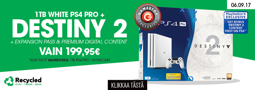PS4 PRO + Destiny 2 Bundle Trade Offer