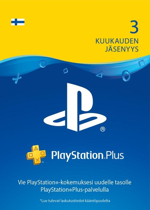 PlayStation®Plus: 3 kuukauden jäsenyys [DIGITAALINEN]