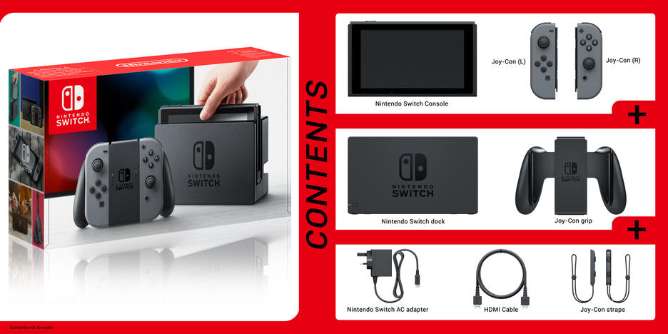 Nintendo: Switch Grey Console (Orders Placed After 18/01/2017 are not guaranteed for day 1 release)