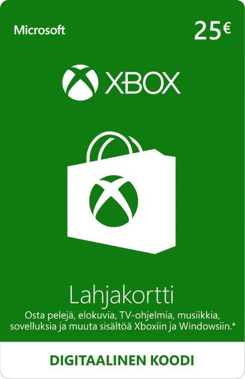 25€ Xbox-Lahjakortti [DIGITAALINEN]