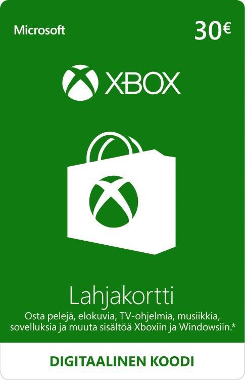 30€ Xbox-Lahjakortti [DIGITAALINEN]