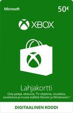 50€ Xbox-Lahjakortti