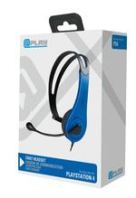 At Play Black/Blue Chat Headset PS4:lle