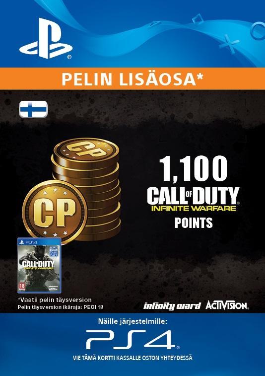 Call of Duty: Infinite Warfare 1,100 Points for PS4 [DIGITAALINEN]