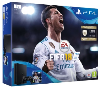 Playstation 4 1TB Console & Fifa 18