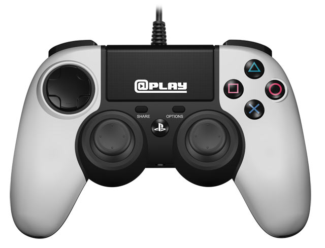 At Play: Wired White PS4 Controller