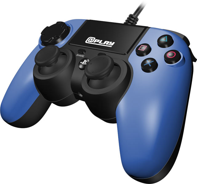At Play: Wired Blue PS4 Controller