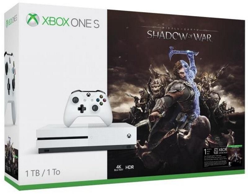 Xbox One S 1TB Konsoli Ja Middle Earth: Shadow of War [GameStop Exclusive]