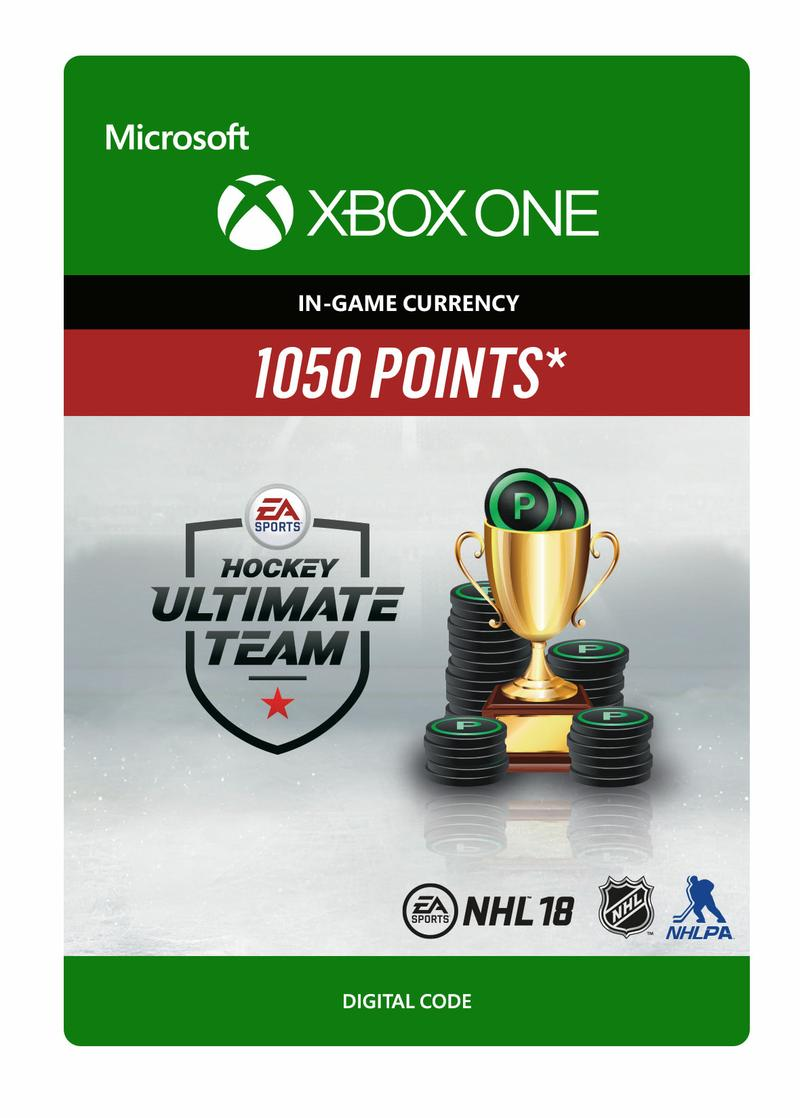 NHL 18: Ultimate Team 1050 Points for Xbox One GameStop