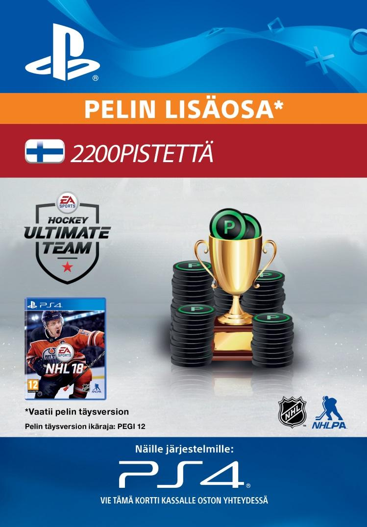 NHL 18: Ultimate Team 2200 Points PS4:lle  [DIGITAALINEN]