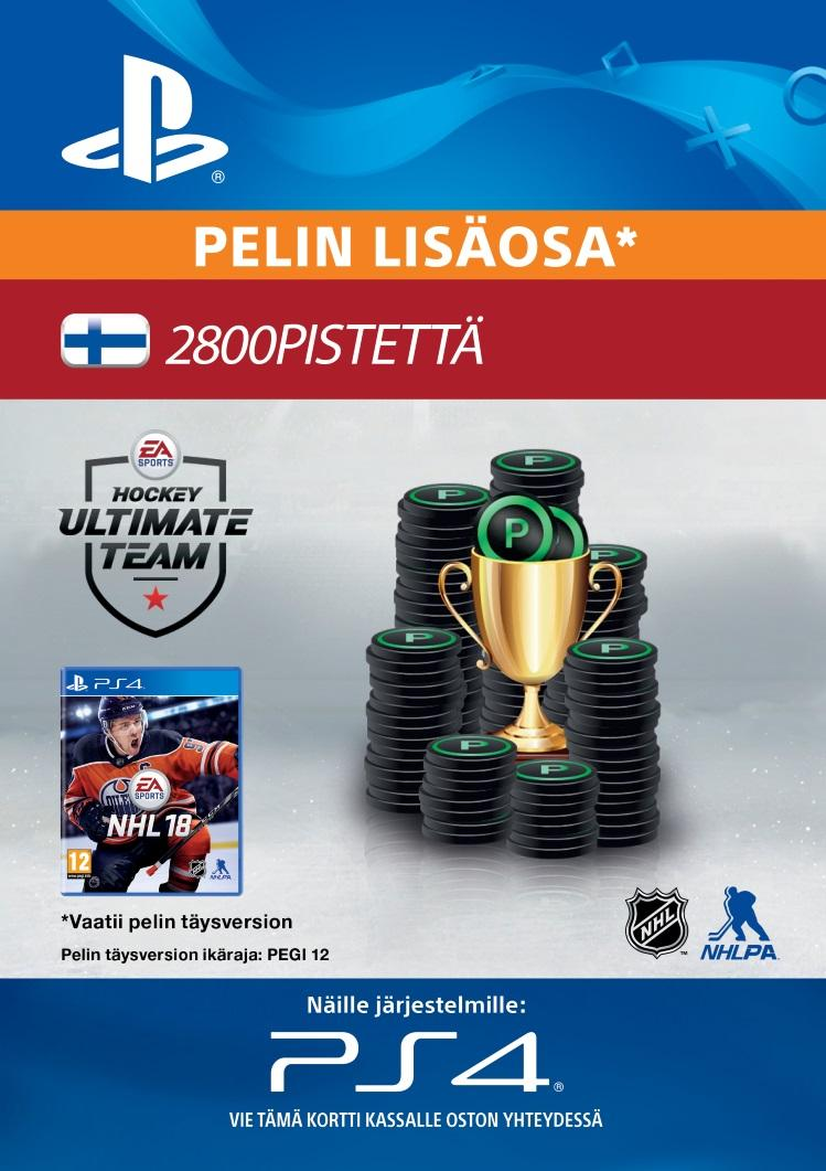 NHL 18: Ultimate Team 2800 Points PS4:lle  [DIGITAALINEN]