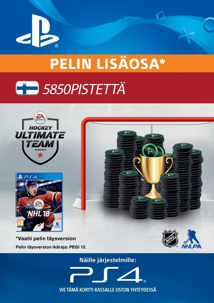 NHL 18: Ultimate Team 5850 Points PS4:lle  [DIGITAALINEN]