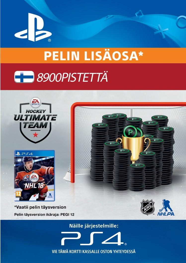 NHL 18: Ultimate Team 8900 Points PS4:lle  [DIGITAALINEN]