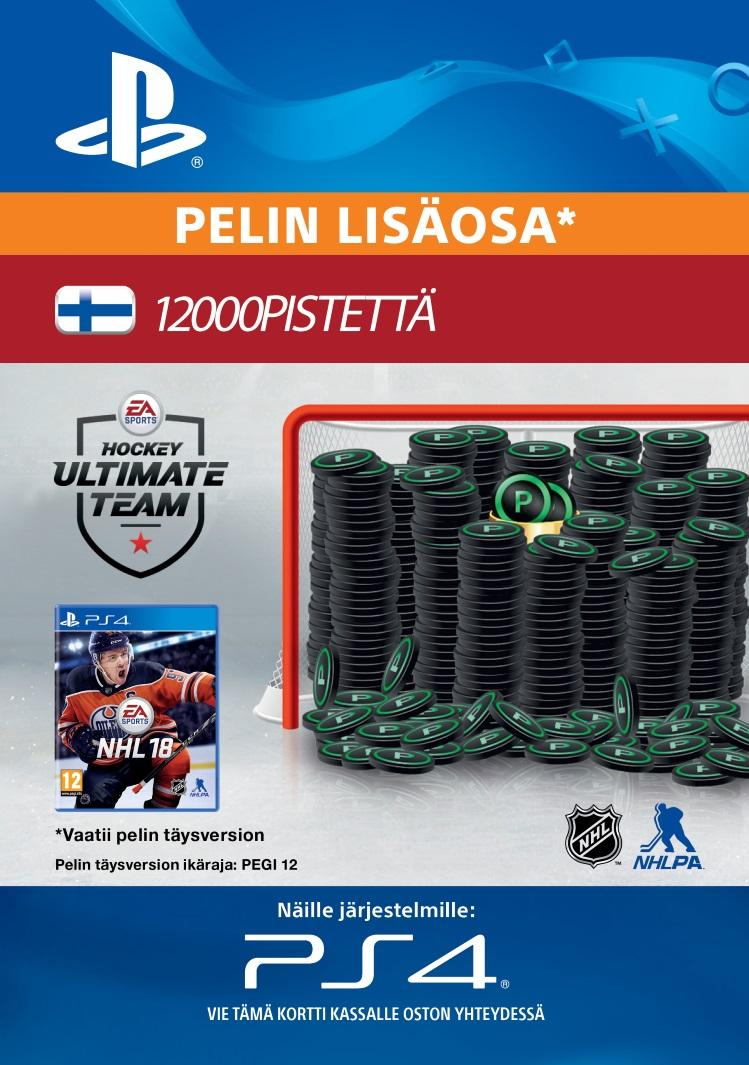 NHL 18: Ultimate Team 12000 Points PS4:lle  [DIGITAALINEN]