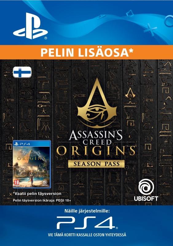 Assassins Creed Origins Season Pass PS4:lle [DIGITAALINEN]