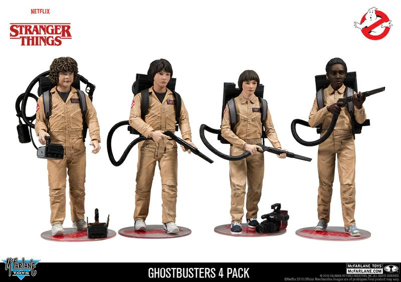 Stranger Things: Deluxe Ghostbusters 4 Pack