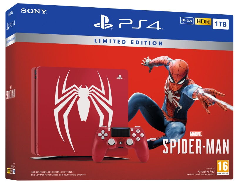 PlayStation®4 1TB Marvel's Spider-Man Limited Edition Konsoli