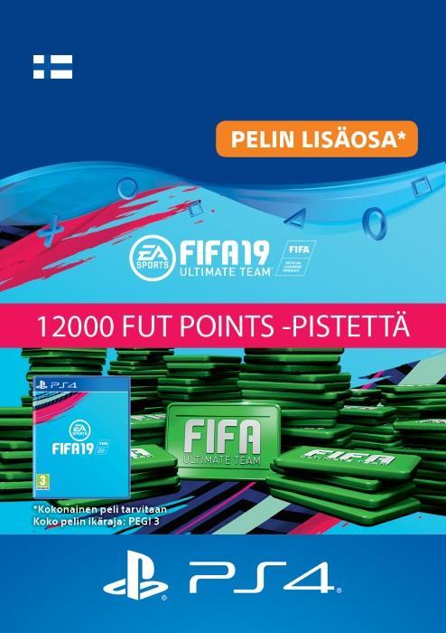 FIFA 19 Ultimate Team™ - 12000 FUT Points -Pistettä PS4:lle [DIGITAALINEN]