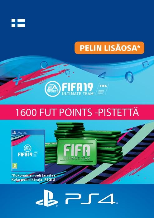 FIFA 19 Ultimate Team™ - 1600 FUT Points -Pistettä PS4:lle [DIGITAALINEN]