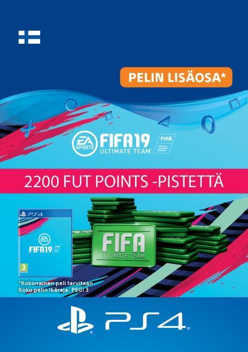 FIFA 19 Ultimate Team™ - 2200 FUT Points -Pistettä PS4:lle [DIGITAALINEN]
