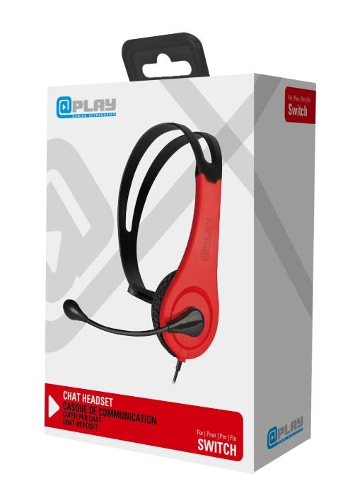 At Play Black/Red Wired Headset Switch:lle