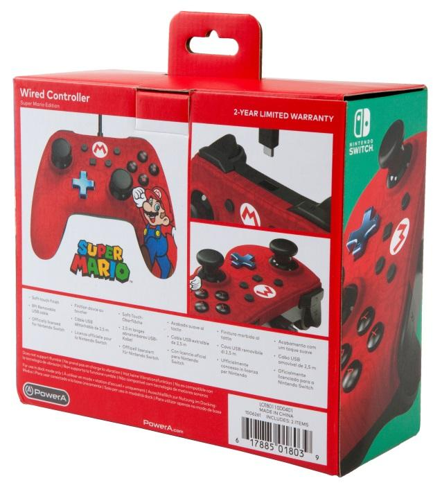 Nintendo Switch: Mario Edition Wired Controller