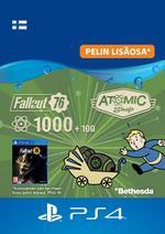 Fallout 76 - 1 000 atomia (+100 bonusatomia) PS4:lle