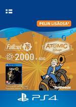 Fallout 76 - 2 000 atomia (+400 bonus atomia) PS4:lle