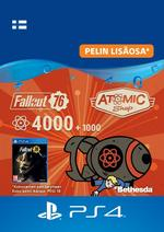Fallout 76 - 4 000 atomia (+1 000 bonusatomia) PS4:lle