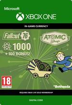 Fallout 76 - 1 000 atomia (+100 bonusatomia) Xbox One:lle