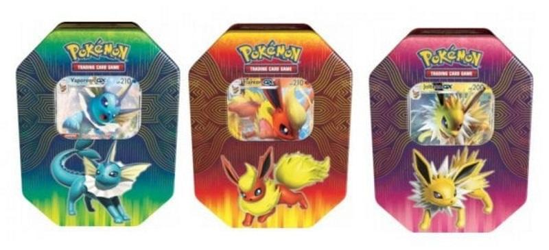 Pokémon TCG: Elemental Power Tin Flareon, Vaporeon, Jolteon-GX [Assorted]