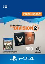 Tom Clancy's - The Division 2: 500 Premium Credits Pack PS4:lle
