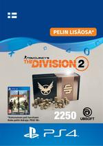 Tom Clancy's - The Division 2: 2250 Premium Credits Pack PS4:lle
