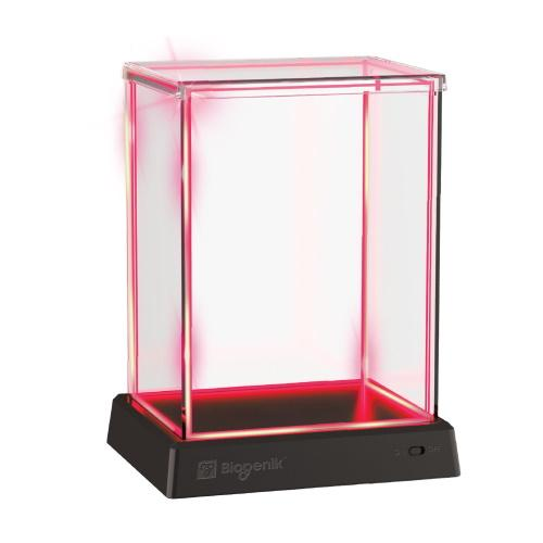 Biogenik: GlowBox Red LED Display Case