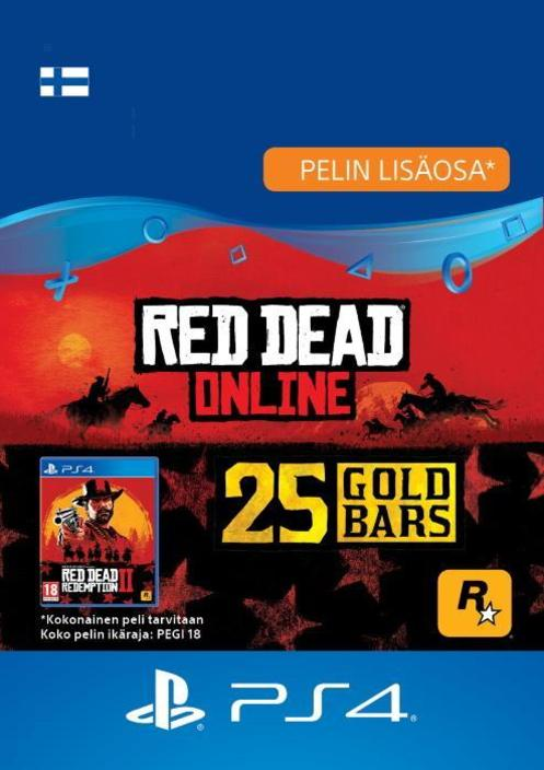 Red Dead Redemption 2: 25 kultaharkkoa PS4:lle [DIGITAALINEN]
