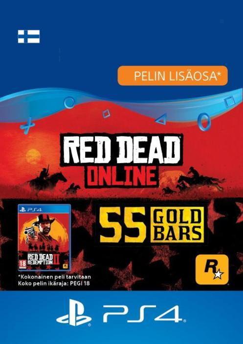 Red Dead Redemption 2: 55 kultaharkkoa PS4:lle [DIGITAALINEN]