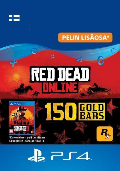 Red Dead Redemption 2: 150 kultaharkkoa PS4:lle [DIGITAALINEN]