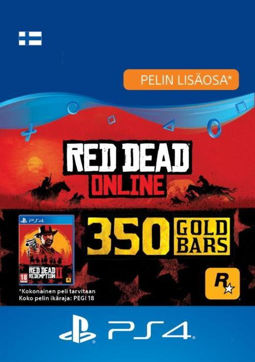 Red Dead Redemption 2: 350 kultaharkkoa PS4:lle [DIGITAALINEN]
