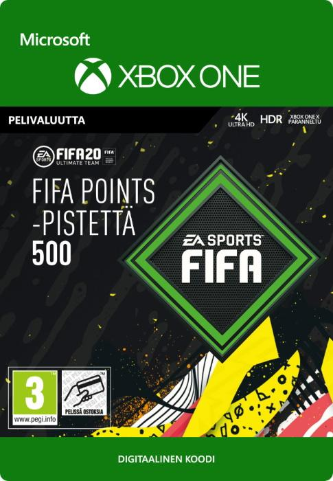 FIFA 20 Ultimate Team™ - 500 FUT -Pistettä Xbox One:lle [DIGITAALINEN]
